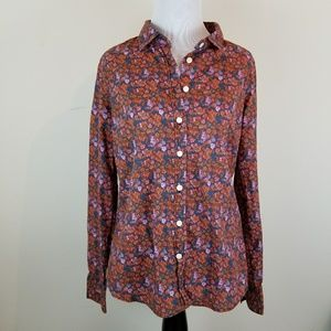 J Crew Perfect Shirt Floral Button Up